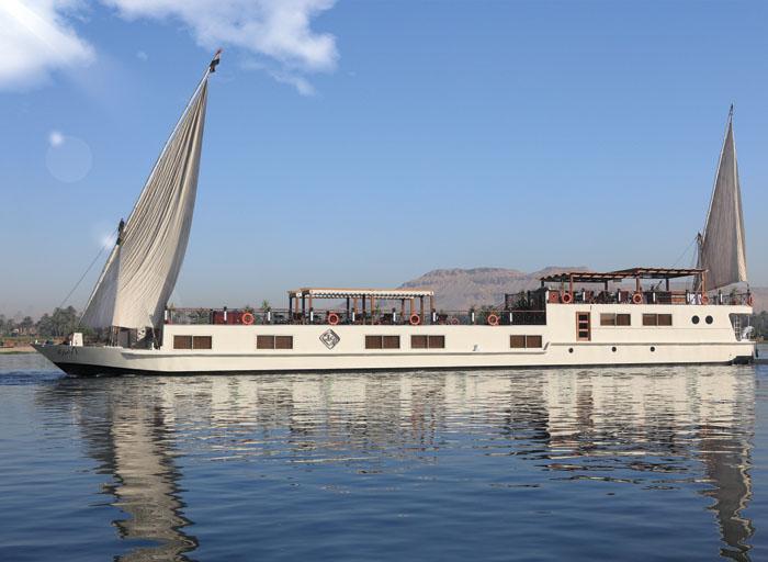Dahabeya Rihana nil segelschiff